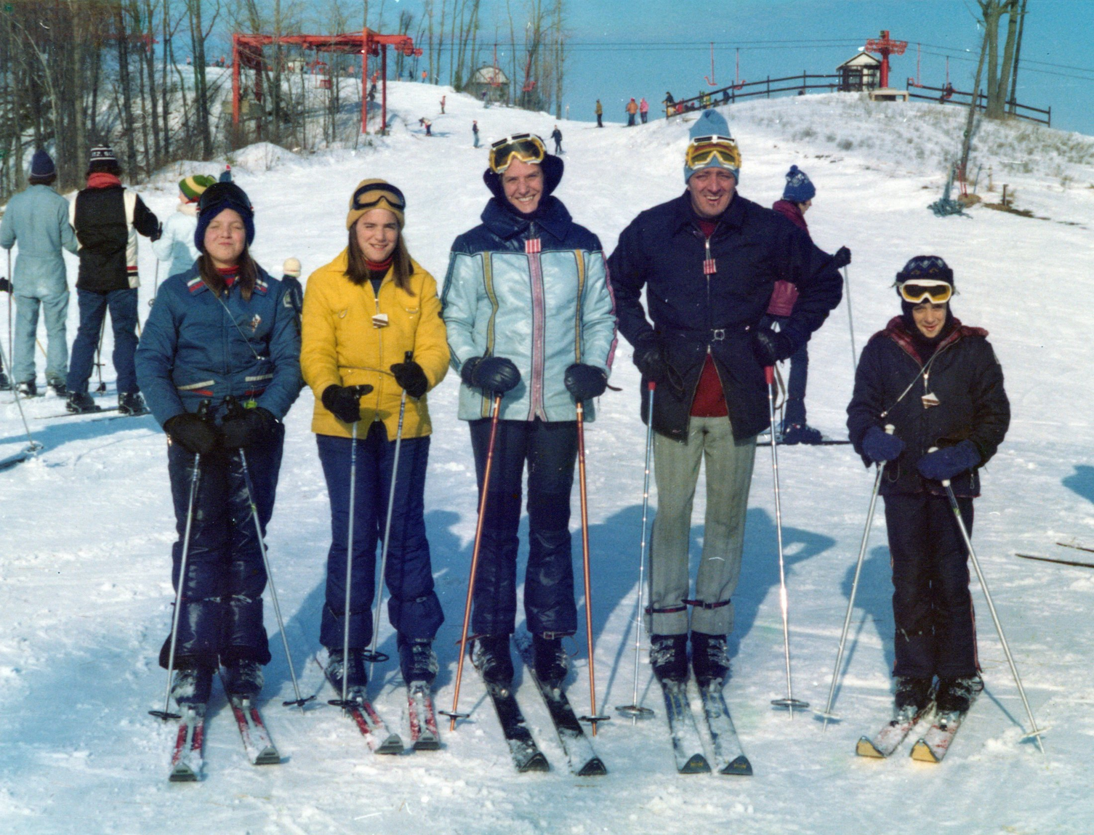 Blue Album 92-95 Plus Others 00414A Burnham Skiing Family