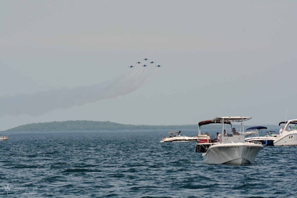 Blue Angels Head South Toward Traverse City-3375