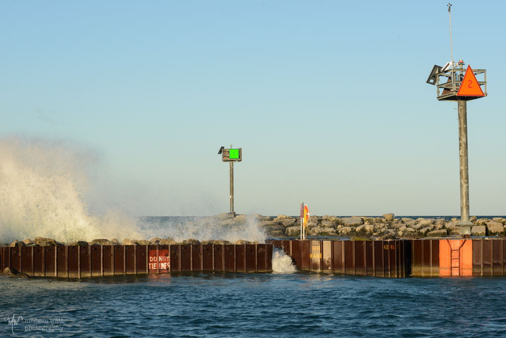 Leland Breakwater Breaking Waves-4354